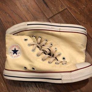Converse High tops Cream\White Women's Size 9